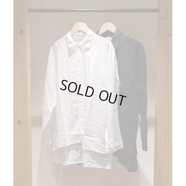 画像1: 【AUGUSTE PRESENTATION Pajama Look(オーギュストプレゼンテーション パジャマルック)】Linen Sheet Regular Collar Shirt(Men's)