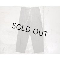 【FRANK LEDER(フランクリーダー)】LIGHT GREY COTTON DRAWSTRING TROUSERS